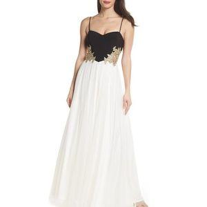 Blondie Nites Embellished Tulle Gown worn 1 time